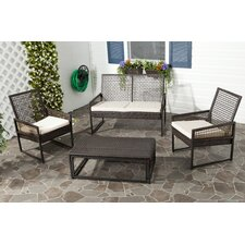 <strong>Safavieh</strong> Shawmont 4 Piece Deep Seating Group with Cushion