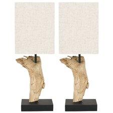 "Uragon 19.7"" H Table Lamp with Square Shade (Set of 2)"
