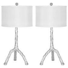 "Branch 27.5"" H Table Lamp with Drum Shade (Set of 2)"