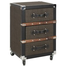 <strong>Safavieh</strong> Lewis 3 Drawer Rolling Chest