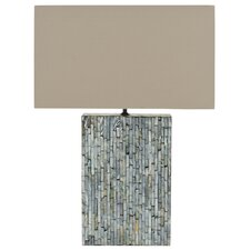 """Lina Mother Of Pearl 16.5"""" H Table Lamp with Rectangle Shade"""