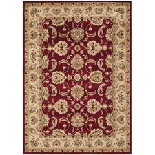 Majesty Red / Camel Traditional Rug