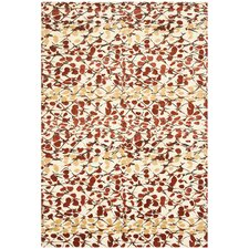 Martha Stewart Abstract Trellis Bard Red Area Rug
