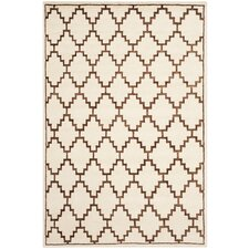 Mosaic Ivory / Brown Geometric Rug