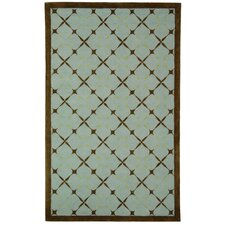 Newport Blue / Brown Geometric Rug