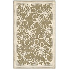 Martha Stewart Fountain Swirl Green / Ivory Rug