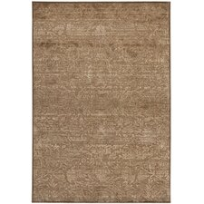 Martha Stewart Heritage Bloom Soft Anthracite / Camel Rug
