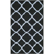 Newport Black/Blue Geometric Area Rug