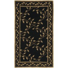 Wilton Black / Green Rug