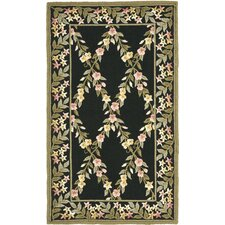 Wilton Black/Green Rug