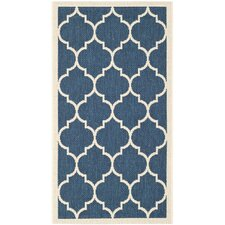 Courtyard Fairmont Navy & Beige Rug