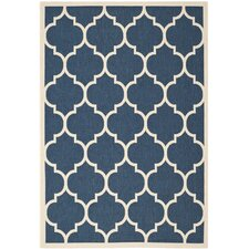 Courtyard Fairmont Navy/Beige Outdoor Area Rug