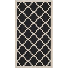 Courtyard Black / Beige Outdoor Rug