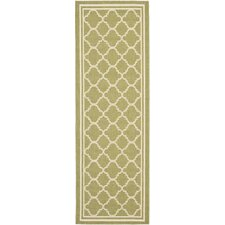 Courtyard Green / Beige Outdoor Rug