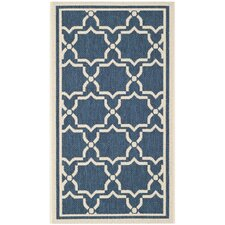 Courtyard Justina Navy & Beige Outdoor Area Rug