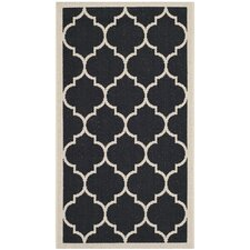 <strong>Safavieh</strong> Courtyard Black / Beige Rug