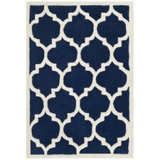Chatham Dark Blue / Ivory Moroccan Rug