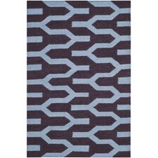 Dhurries Purple / Blue Rug