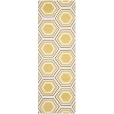 Dhurries Ivory/Yellow Area Rug