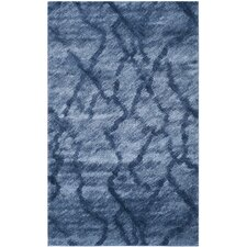 Retro Blue / Dark Blue Rug