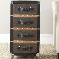 Brent 4 Drawer Rolling Chest