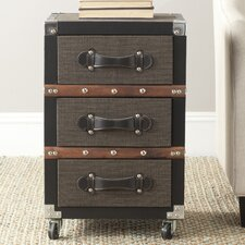 Lewis 3 Drawer Rolling Chest