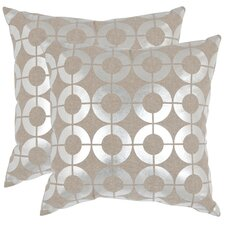 <strong>Safavieh</strong> Bailey Linen Decorative Pillow (Set of 2)