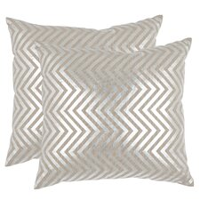 <strong>Safavieh</strong> Elle Linen Decorative Pillow (Set of 2)