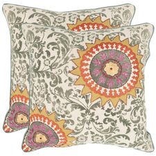 <strong>Safavieh</strong> Sunny Cotton Decorative Pillow (Set of 2)