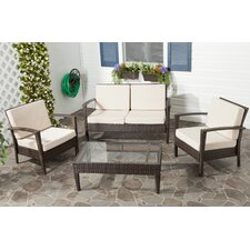 Piscataway 4 Piece Deep Seating Group with Cushion