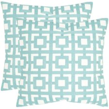 <strong>Safavieh</strong> Emily Cotton Decorative Pillow (Set of 2)