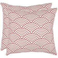 <strong>Safavieh</strong> Dina Cotton Decorative Pillow (Set of 2)