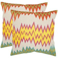 <strong>Safavieh</strong> Ashley Cotton Decorative Pillow (Set of 2)