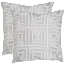 <strong>Safavieh</strong> Lacie Polyester / Cotton Decorative Pillow (Set of 2)