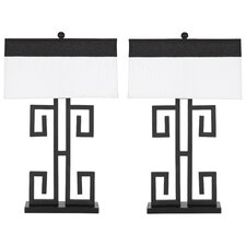 "28"" H Greek Key Table Lamp (Set of 2)"