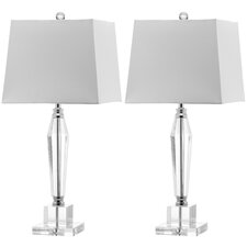 Aiden Faceted Crystal Table Lamp (Set of 2)