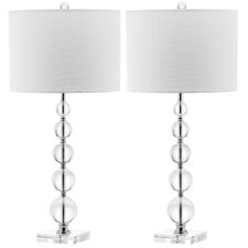 "Liam Stacked Ball 29"" H Table Lamp with Drum Shade (Set of 2)"