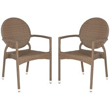 <strong>Safavieh</strong> Valdez Stacking Dining Arm Chair (Set of 2)