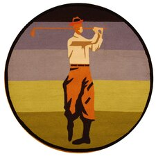 Vintage Posters Golf Collage Novelty Rug