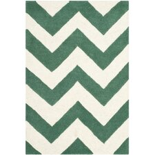 Chatham Green / White Area Rug
