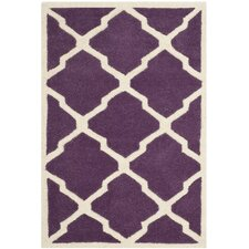 <strong>Safavieh</strong> Chatham Purple / Ivory Rug