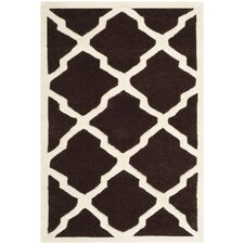<strong>Safavieh</strong> Chatham Dark Brown / Ivory Rug