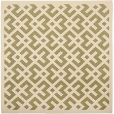 Courtyard Green / Bone Rug