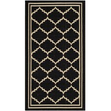 Courtyard Black / Creme Outdoor Rug