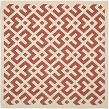 Courtyard Red / Bone Rug