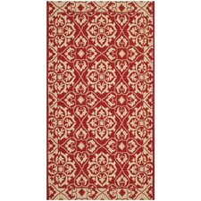 <strong>Safavieh</strong> Courtyard Red/Crème Border Rug