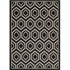 Courtyard Black/Beige Rug