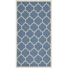 Courtyard Blue/Beige Outdoor Rug