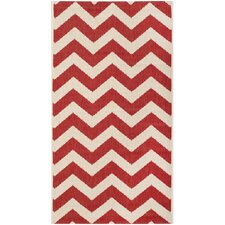 Courtyard Red Outdoor Rug
