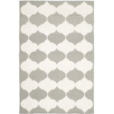 Dhurries Grey / Ivory Rug